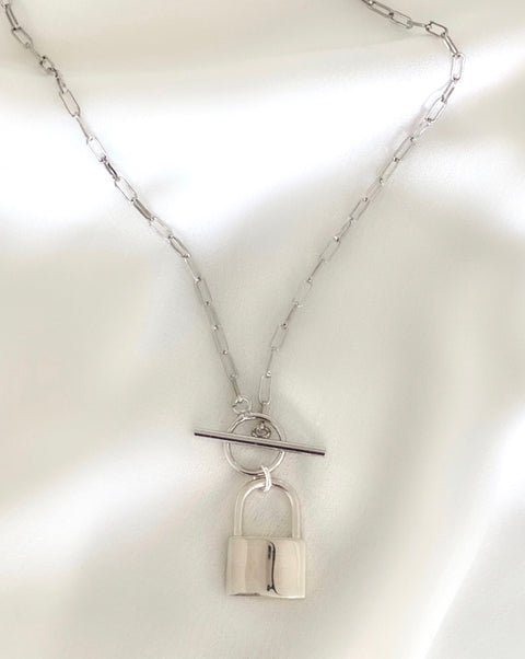 Collar Miss Candado (Plata)