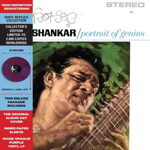 Ravi Shankar ‎– Portrait Of Genius - Vinyl, LP, Album, Limited Edition, Reissue, Remastered, Stereo, Purple Mixed