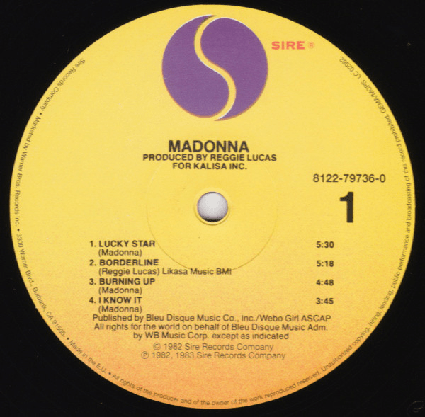 Madonna ‎– Madonna -LP, Album, Reissue - Flashlight Vinyl - Turntable Music