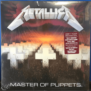 Metallica ‎– Master Of Puppets - Vinyl, LP, Album, Reissue, Remastered, 180 Gram - Flashlight Vinyl - Turntable Music