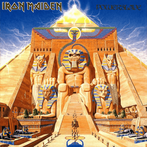 Iron Maiden ‎– Powerslave - Vinyl, LP, Album, Reissue, Remastered, 180 Gram - Flashlight Vinyl - Turntable Music