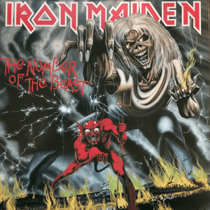 Iron Maiden ‎– The Number Of The Beast - Vinyl, LP, Album, Reissue, 180 Gram - Flashlight Vinyl - Turntable Music