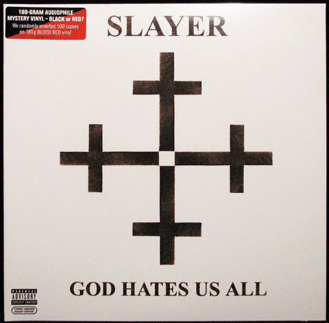 Slayer - God Hates Us All - Vinyl, LP, Album, Reissue, Gatefold, 180g - Flashlight Vinyl - Turntable Music