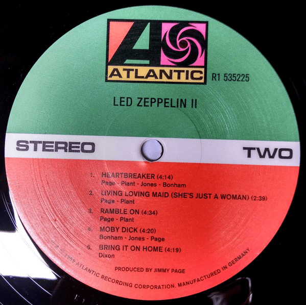 Led Zeppelin II by Led Zeppelin 180 Gram Vinyl Remastered - Flashlight Vinyl - Turntable Music