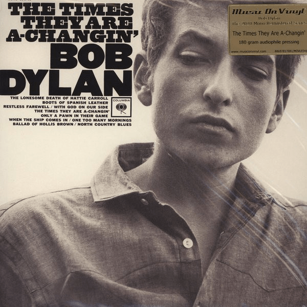 Bob Dylan ‎– The Times They Are A-Changin' - Vinyl, LP, Album, Mono, Remastered, Reissue, 180 Gram - Flashlight Vinyl - Turntable Music