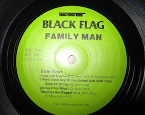 Black Flag ‎– Family Man - SST Records ‎– SST 026 Format: Vinyl, LP, Album, Reissue - Flashlight Vinyl - Turntable Music