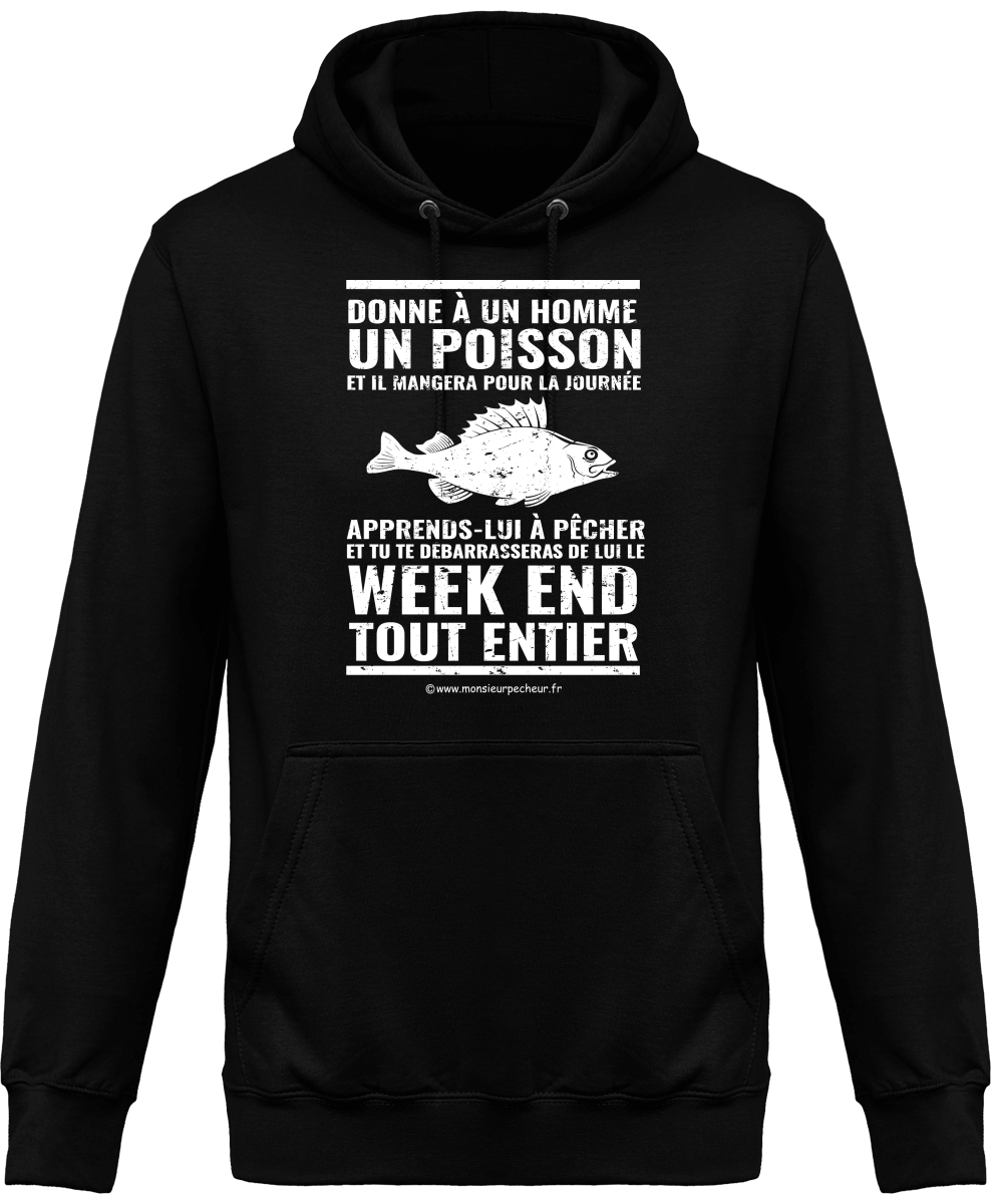Sweat Capuche Donne à un homme un poisson