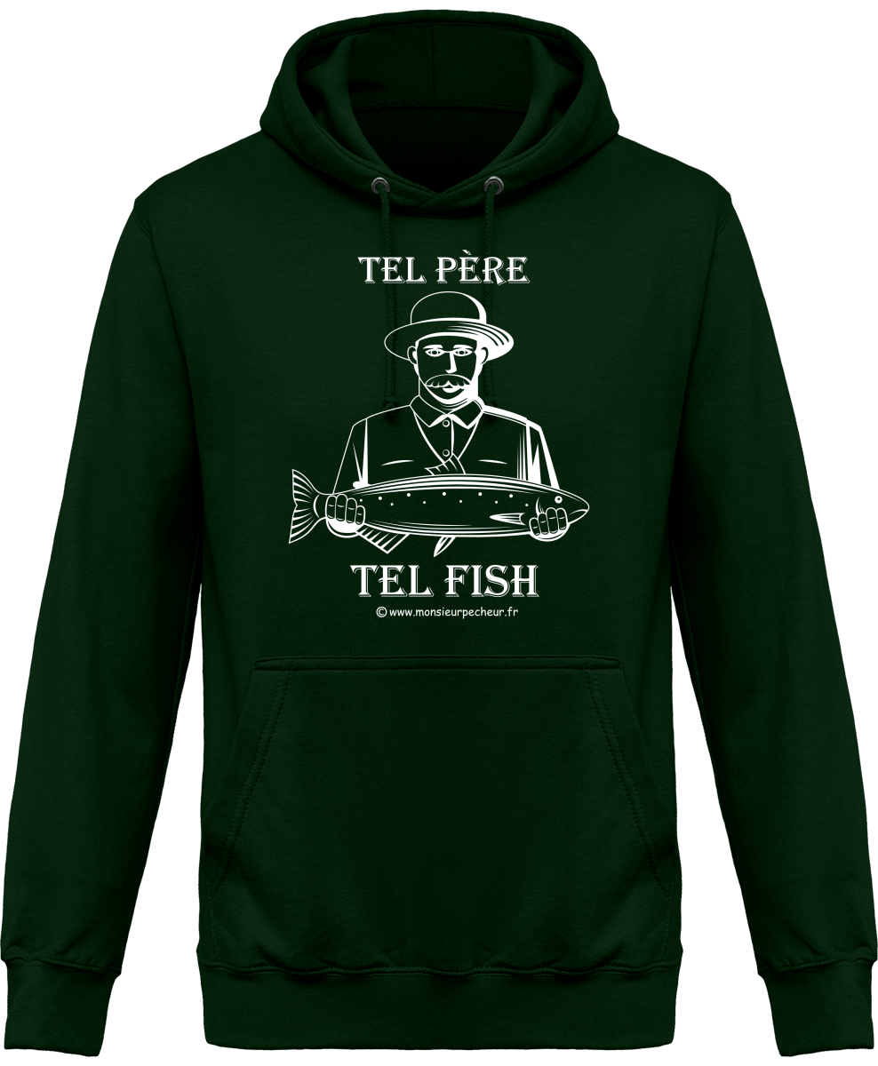 Sweat Capuche Tel père tel fish