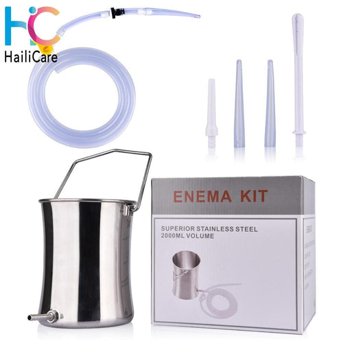Hailicare Health Co Enema Kit (Non-Toxic Stainless Steel 2 Quart Bucket) - HailiCare Health & Beauty