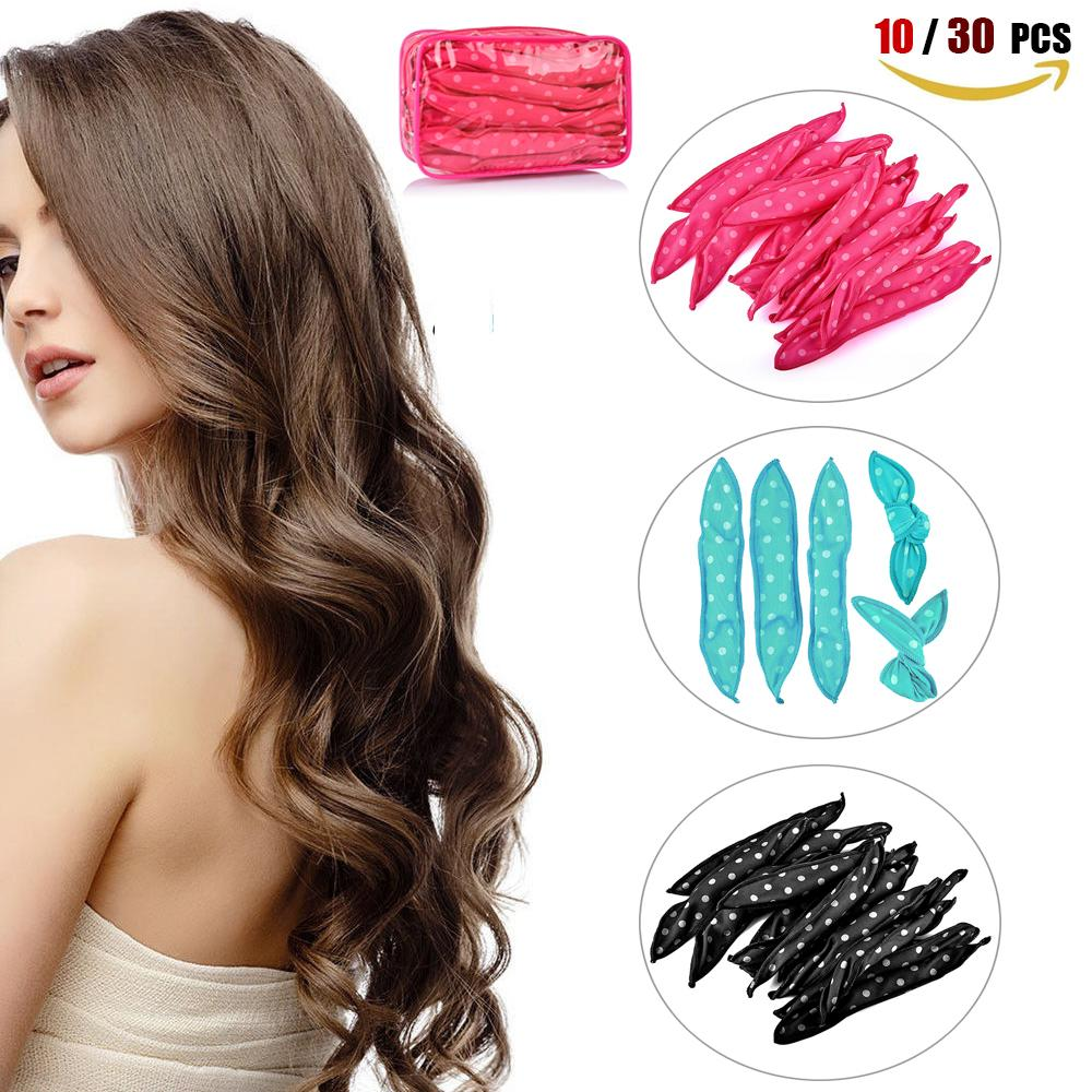 Soft Hair Roller 30 PCS Magic Sponge Pillow Best Flexible Foam and Sponge Hair Curlers HailiCare