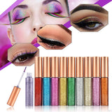 10pcs Eyeliner Glitter Set Eye Makeup Liner Waterproof Shimmer Pigment Silver Gold Metallic HailiCare