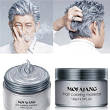 Colorful Hair Wax Styling Pomade Silver Grandma Grey Temporary Dye Disposable Hailicare Gray