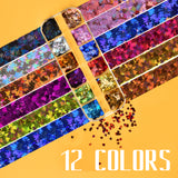 SKINER Butterfly Glitters Fall Nail Art Sequins for Nails Decoration(3 boxes with tweezers)