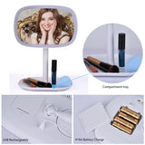 47 LED Lights 360 Rotating Desktop Mirror Touch Screen Makeup Mirror HailiCare