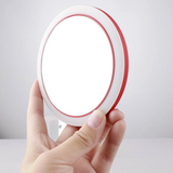 Portable LED Makeup Mini Circular Mirror with Wireless USB Charging