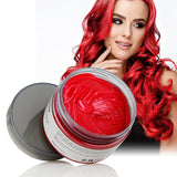 Colorful Hair Wax Styling Pomade Silver Grandma Grey Temporary Dye Disposable Hailicare Red