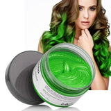 Colorful Hair Wax Styling Pomade Silver Grandma Grey Temporary Dye Disposable Hailicare Green