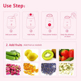 Facial Steamer DIY Fruit Steam Sprayer Beauty Machine Nano Ionic Mist Face Humidifier HailiCare