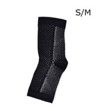 Anti-Fatigue Compression Foot Black Sleeve Socks