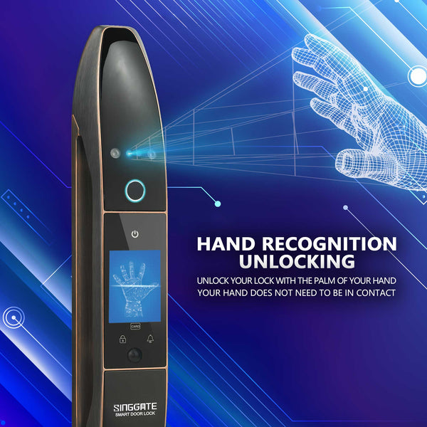 FA002 Digital Door Lock (Black Gold)