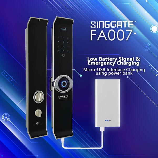 FA007 Digital Door Lock (Silver)