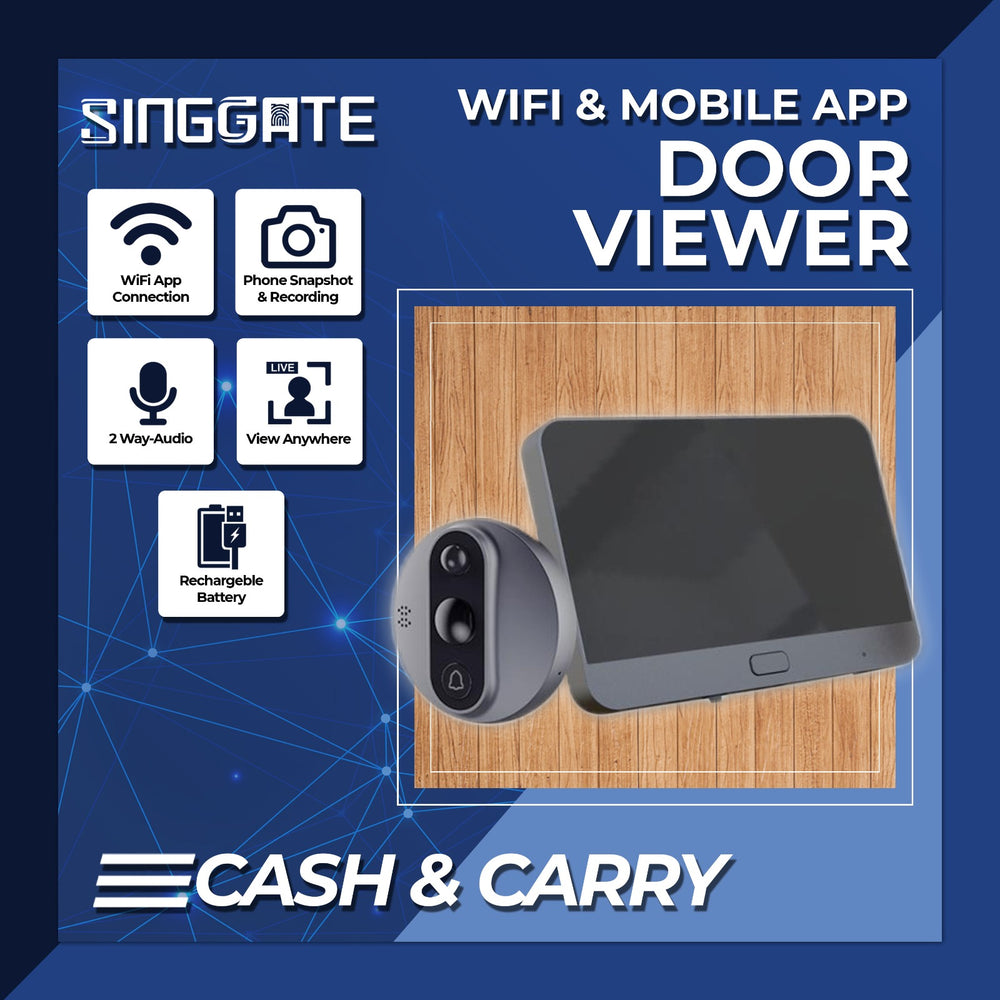 WIFI Door Viewer (Gun Metal)