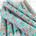 "Personalized Gift Wrapping Paper 58""x 23"""