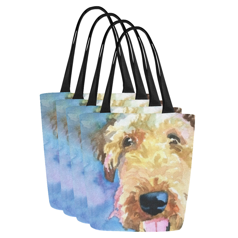 Canvas Tote Bag (Model1657) (Set of 4)