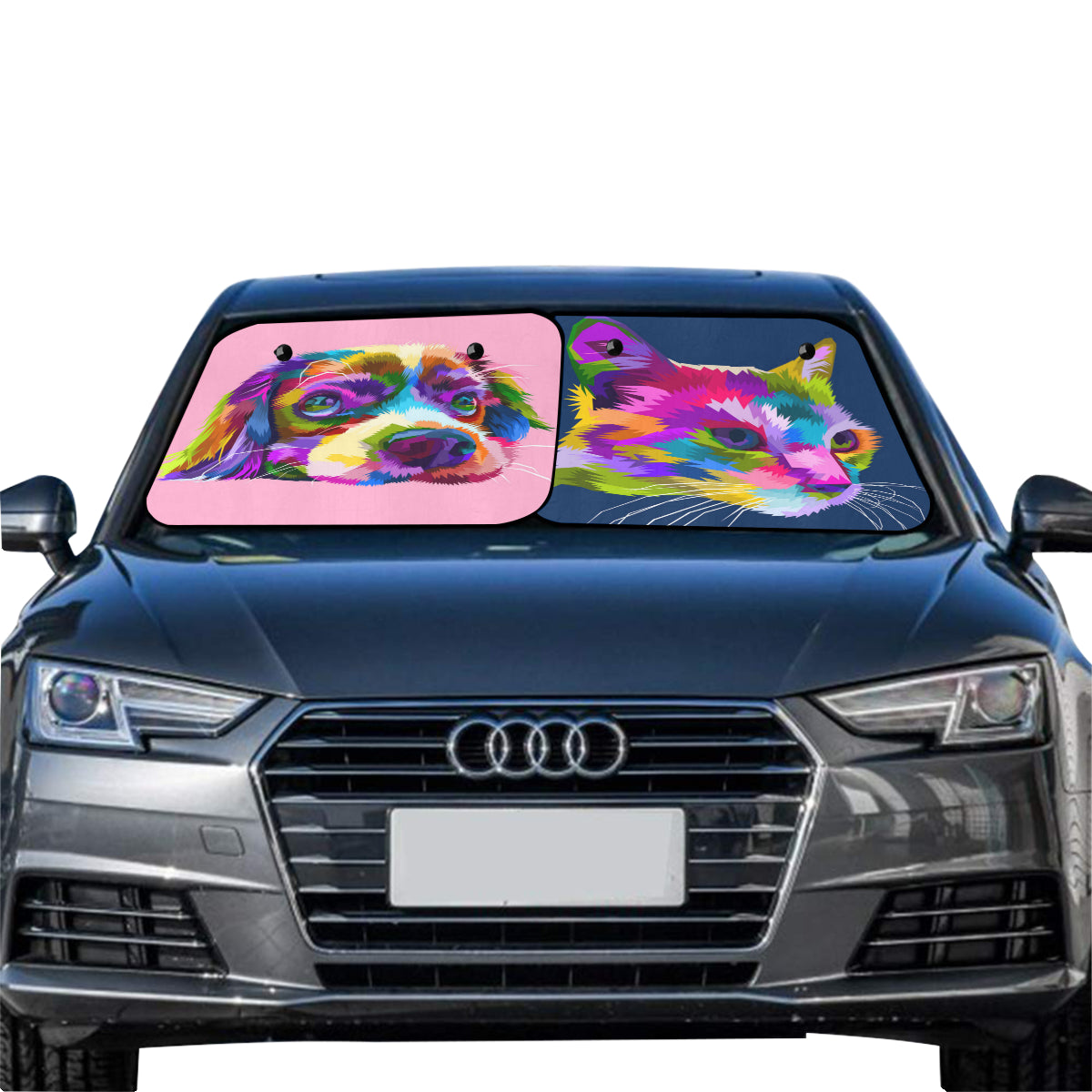 "Car Sun Shade(28"" x 28"")(Small)(Two Pieces)"