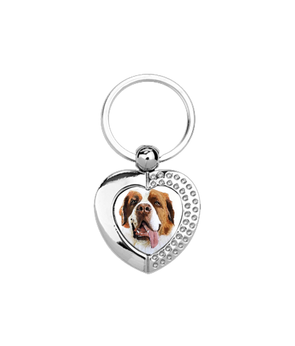 Personalized Heart Metal Keyring