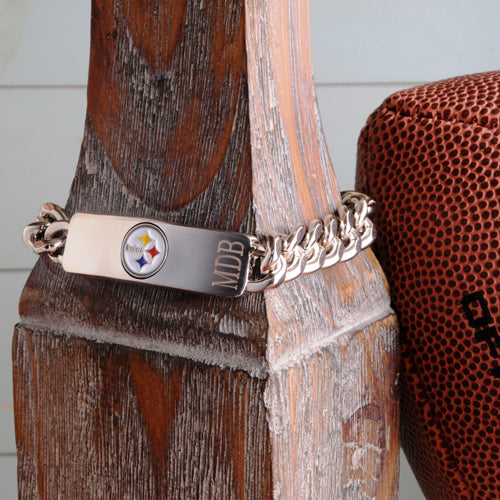 Personalized NFL Fan Favorite Bracelet - Pittsburgh Steelers