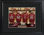 NFL Locker Print with Matted Frame - 49ers
