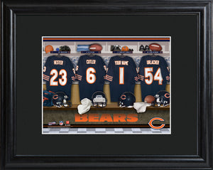 NFL Locker Print with Matted Frame - Bears