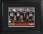 NFL Locker Print with Matted Frame - Broncos