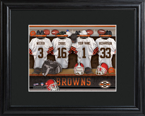 NFL Locker Print with Matted Frame - Browns
