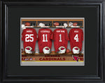 NFL Locker Print with Matted Frame - Cardinals