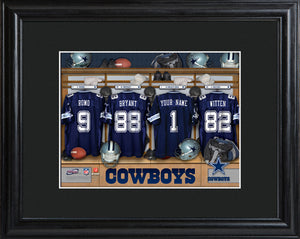 NFL Locker Print with Matted Frame - Cowboys