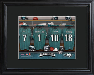 NFL Locker Print with Matted Frame - Eagles