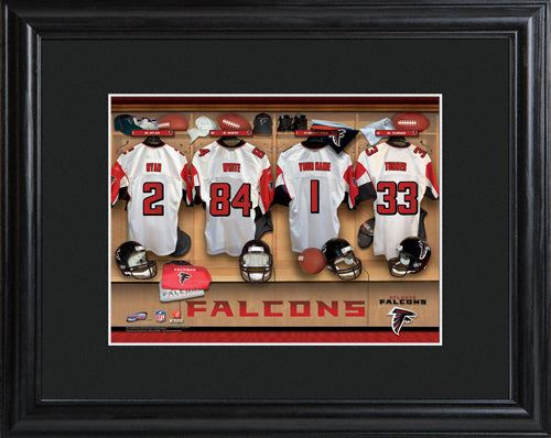 NFL Locker Print with Matted Frame - Falcons