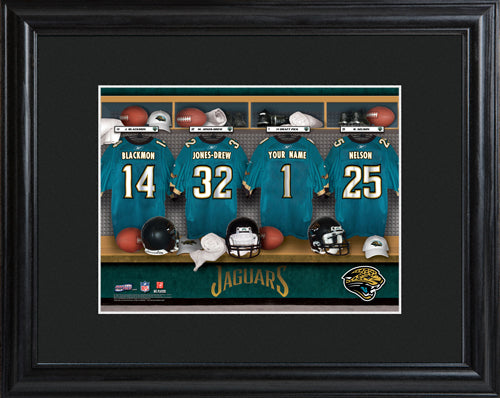NFL Locker Print with Matted Frame - Jaguars