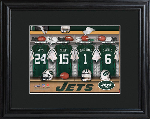 NFL Locker Print with Matted Frame - Jets