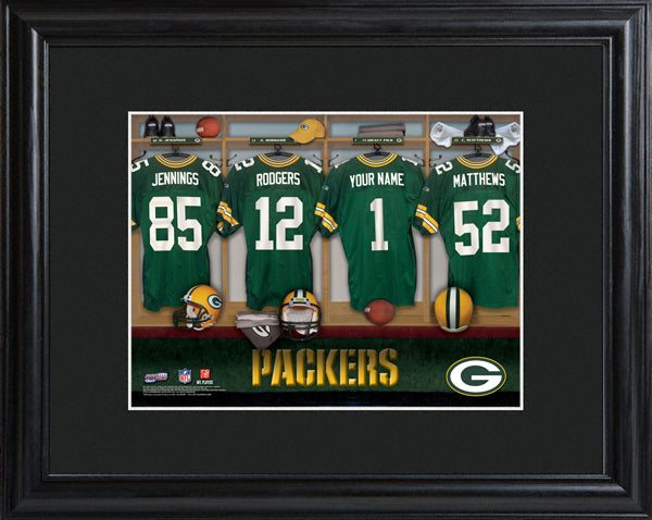 NFL Locker Print with Matted Frame - Packers