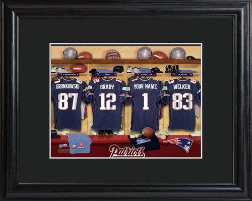NFL Locker Print with Matted Frame - Patriots