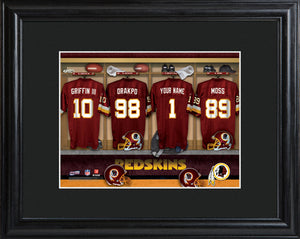 NFL Locker Print with Matted Frame - Red Skins