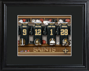 NFL Locker Print with Matted Frame - Saints
