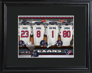 NFL Locker Print with Matted Frame - Texans