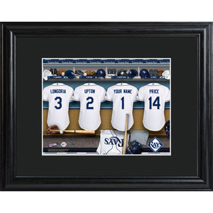 Personalized MLB Clubhouse Print w/Matted Frame - Rays