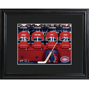 NHL Locker Room Print in Wood Frame - Canadians