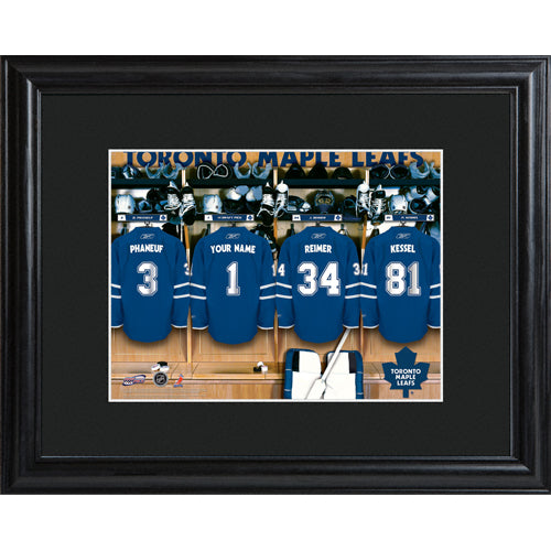 NHL Locker Room Print in Wood Frame - Maple Leafs
