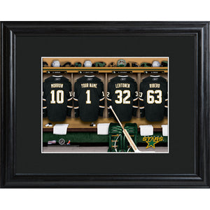 NHL Locker Room Print in Wood Frame - Stars